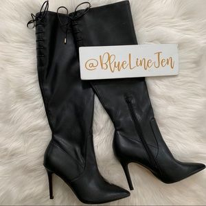 Jubrylla Knee High Stiletto Boots NWOT